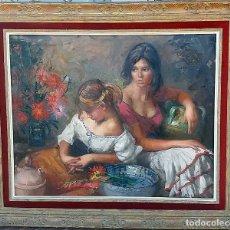 Arte: AMADEO FREIXAS VIVO - TERRASSA 1915-2004 - RETRATO DOS MUJERES - 100X83 ENMARCADO 130X113. Lote 84757520