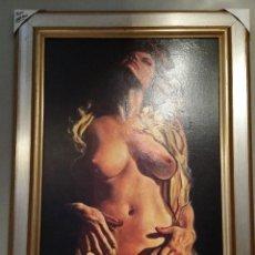 Arte: DESNUDO DE LA GUERRA CIVIL. CUADRO CON MARCO,EN MADERA, TAMAÑO 100X70 CM.. Lote 84798988