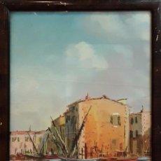 Arte: PUEBLO MEDITERRÁNEO. ACUARELA. MIQUELIS. FRANCIA (?) SIGLO XIX-XX. Lote 84828632