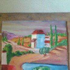 Arte: PINTURA AL OLEO LIENZO EN TABLA. Lote 85132768