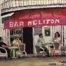Arte: BAR MELITON. CADAQUÉS DE AGUILAR MORÉ. Lote 85146743