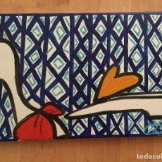 Arte: OBRA DE LA SERIE ÑOÑOS Y ZAPATOS DE LA PINTORA RUTH CALDERIN. Lote 85201436