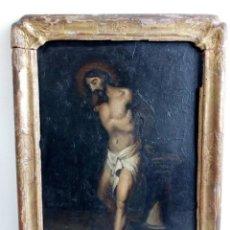 Arte: ÓLEO CRISTO ATADO A LA COLUMNA, MARCO ORIGINAL 1800, PINTURA ANTIGUA, SEGUIDOR VALDÉS LEAL. Lote 85229476