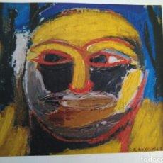 Arte: OLEO/TABLA TITULADO CARA 1. 35X36'5 CM. FERNANDO ROSCUBAS.1990. Lote 85264226