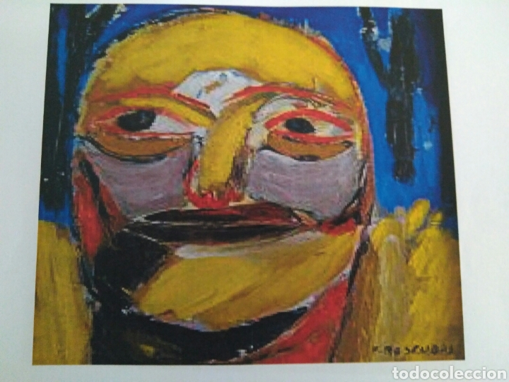 Arte: Oleo/Tabla titulado CARA 2. 35x35 cm. Fernando Roscubas. 1990. - Foto 2 - 85264519