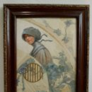 Arte: ACUARELA Y TEMPLE SOBRE SEDA DE RAÚL COLOM, 1.897, DAMA CON COFIA, ARTISTA VALENCIANO, MODERNISTA. Lote 85310460