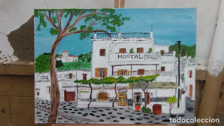 PAMPANEIRA, HOTEL FERNANDO , 50X70 CM. ,ÓLEO SOBRE LIENZO EN BASTIDOR, AUTOR:CRESPO (Arte - Pintura - Pintura al Óleo Contemporánea )