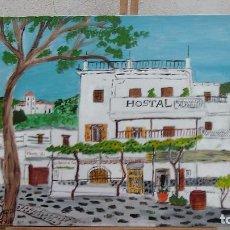 Arte: PAMPANEIRA, HOTEL FERNANDO , 50X70 CM. ,ÓLEO SOBRE LIENZO EN BASTIDOR, AUTOR:CRESPO. Lote 85372852