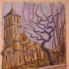 Arte: HENRI BOULAGE PINTOR POST IMPRESIONISTA MONMARTRE PARIS FRANCE FRANCIA ACUARELA GOUACHE. Lote 85501704