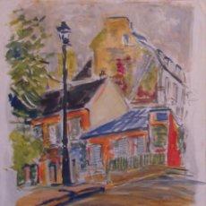 Arte: HENRI BOULAGE PINTOR POST IMPRESIONISTA MONMARTRE PARIS FRANCE FRANCIA GOUACHE. Lote 85502924