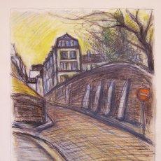 Arte: PINTURA HENRI BOULAGE PINTOR POST IMPRESIONISTA MONMARTRE PARIS FRANCE FRANCIA RUE OLEO SAINT DENIS. Lote 85503420