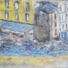 Arte: HENRI BOULAGE PINTOR POST IMPRESIONISTA MONMARTRE PARIS FRANCE FRANCIA OLEO ESCALIER DU CALVAIRE. Lote 85504112