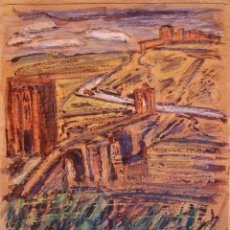 Arte: HENRI BOULAGE PINTOR POST IMPRESIONISTA ESPAÑA ESPAGNE TOLEDO PARIS FRANCE FRANCIA ACUARELA. Lote 85507568