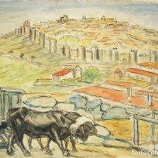 Arte: HENRI BOULAGE PINTOR POST IMPRESIONISTA PAISAJE TORO AVILA CASTILLA Y LEON PARIS FRANCE FRANCIA OLEO. Lote 85507688