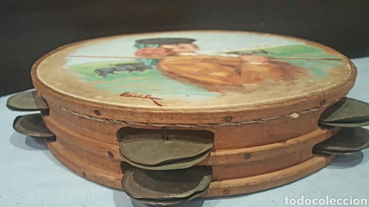 Arte: ANGEL LLACER MUNI (1889-1957) CORDOBA. OLEO SOBRE PANDERETA, 26CM - Foto 4 - 85668596