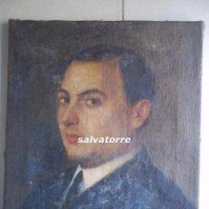 RETRATO AL OLEO.1922.BUENA FACTURA.OLEO SOBRE TELA.BASTIDOR ORIGINAL.CANARIAS.FIRMA ILEGIBLE