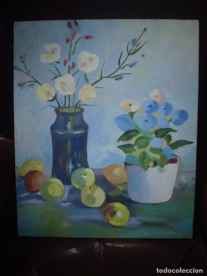 BODEGON OLEO SOBRE LIENZO FIRMADO CELES 96 (Arte - Pintura Directa del Autor)