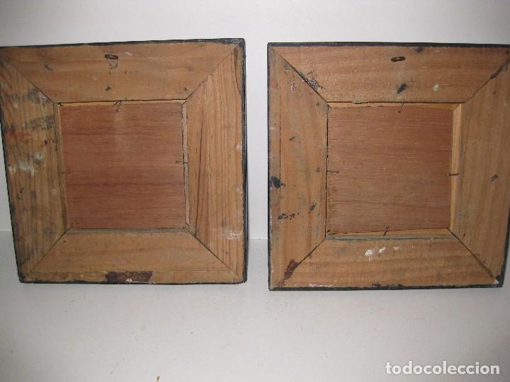 Arte: 2 antiguo cuadro escena rural R. Viñas . oleo sobre madera . marco madera - Foto 4 - 85785656