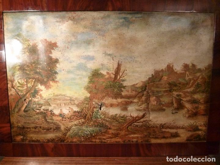 OLEO SOBRE CARTON ESCUELA MALLORQUINA (Arte - Pintura - Pintura al Óleo Antigua sin fecha definida)