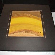 Arte: OLEO SOBRE CARTÓN RELIEVE ASTRASCTO - FIRMADO MORE 97 - ENMARCADO MEDIDA 68 X 68 CM. HUECO 47 X 47 . Lote 85937224