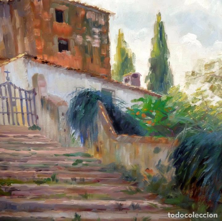 Arte: FRANCESC PLANAS DORIA (SABADELL, 1879 - 1955) OLEO SOBRE TELA DE LOS AÑOS 30. VISTA DE UNA IGLESIA - Foto 2 - 86009656