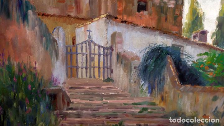 Arte: FRANCESC PLANAS DORIA (SABADELL, 1879 - 1955) OLEO SOBRE TELA DE LOS AÑOS 30. VISTA DE UNA IGLESIA - Foto 3 - 86009656