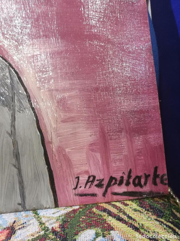 Arte: Oleo sobre tabla.autor:el ilustre bilbaino medico e investigador juan azpitarte anta - Foto 2 - 86038696