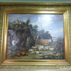 Arte: PRECIOSA PINTURA FLAMENCA ÓLEO SOBRE LIENZO-PAISAJE CAMPESTRE - ENMARCADA - ORIGINAL S. XVII-XVIII. Lote 86073240