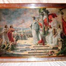 Arte: REUNIFICACION DE ITALIA - OLEO SOBRE TELA AÑO 1870 - G.CASTIGLIONE.. Lote 86139552