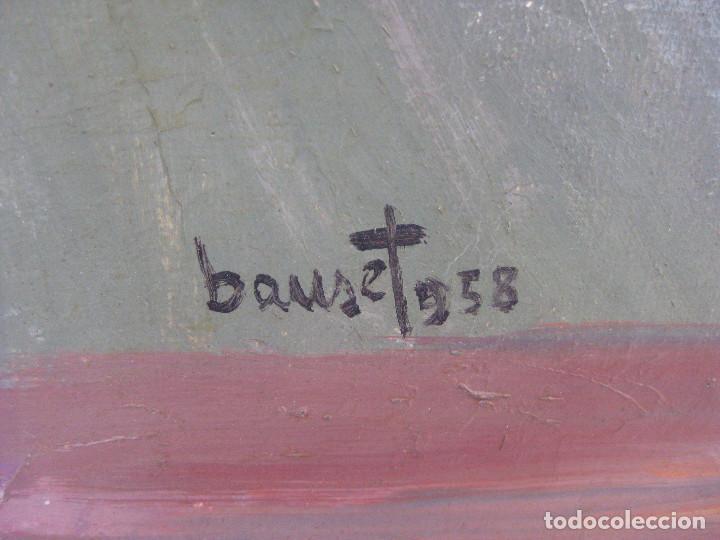 Arte: FANTASTICO OLEO SOBR ELIENZO MITICO ELEUTERIO BAUSET RIBES 1958 CARTELISTA REPUBLICANO VALENCIA - Foto 3 - 86362816