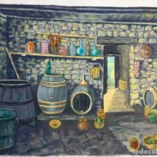 Arte: ÓLEO CON BODEGA ANTIGUA. Lote 86492980