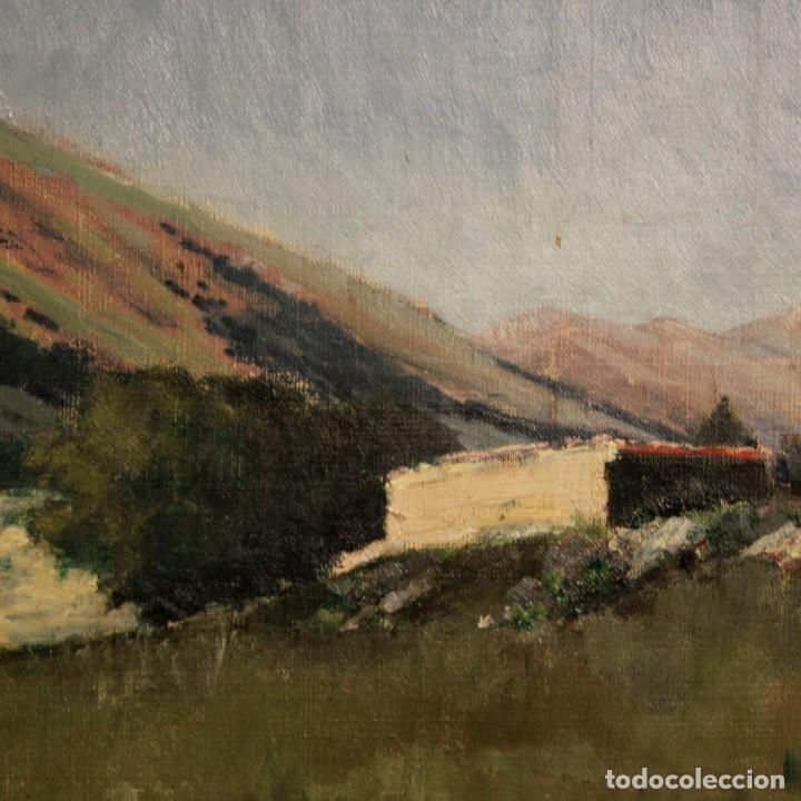 Arte: Antigua pintura italiana del paisaje con cazador fechado 1899 - Foto 8 - 86554944