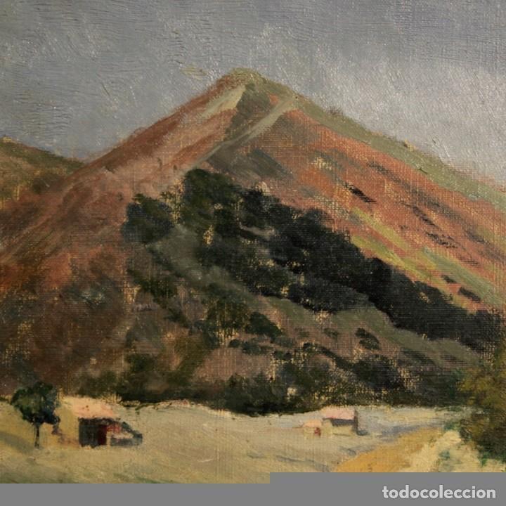 Arte: Antigua pintura italiana del paisaje con cazador fechado 1899 - Foto 10 - 86554944