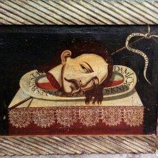 Arte: PINTURA OLEO EN LIENZO. S XVI/XVII. CABEZA DE SAN JUAN BAUTISTA.. Lote 86575595
