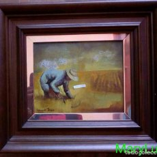Arte: ÓLEO CON SEGADOR, DE ADELINA VALENZUELA TAMAYO (N. 1945). (CAZORLA, CASTELLAR, JAÉN).. Lote 86660508