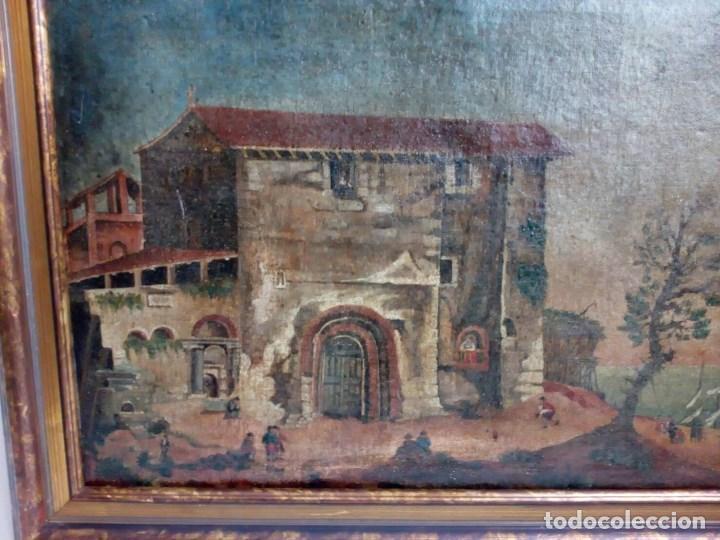 Arte: PAISAJE COSTUMBRISTA SIGLO XVIII, ÓLEO SOBRE LIENZO, ESCENA MARINA, ESCUELA ESPAÑOLA - Foto 3 - 86843164