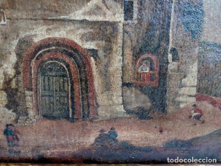 Arte: PAISAJE COSTUMBRISTA SIGLO XVIII, ÓLEO SOBRE LIENZO, ESCENA MARINA, ESCUELA ESPAÑOLA - Foto 8 - 86843164