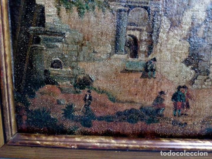 Arte: PAISAJE COSTUMBRISTA SIGLO XVIII, ÓLEO SOBRE LIENZO, ESCENA MARINA, ESCUELA ESPAÑOLA - Foto 9 - 86843164