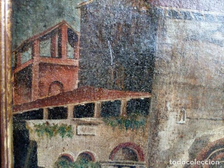 Arte: PAISAJE COSTUMBRISTA SIGLO XVIII, ÓLEO SOBRE LIENZO, ESCENA MARINA, ESCUELA ESPAÑOLA - Foto 10 - 86843164