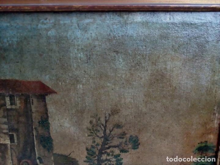 Arte: PAISAJE COSTUMBRISTA SIGLO XVIII, ÓLEO SOBRE LIENZO, ESCENA MARINA, ESCUELA ESPAÑOLA - Foto 12 - 86843164