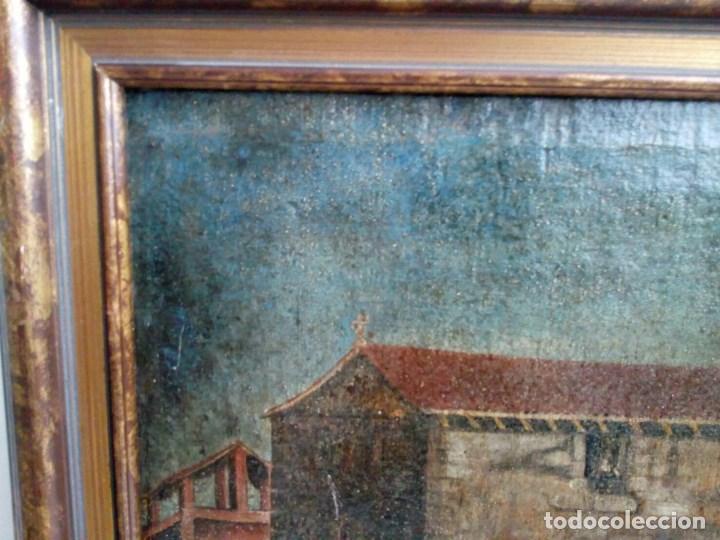Arte: PAISAJE COSTUMBRISTA SIGLO XVIII, ÓLEO SOBRE LIENZO, ESCENA MARINA, ESCUELA ESPAÑOLA - Foto 13 - 86843164