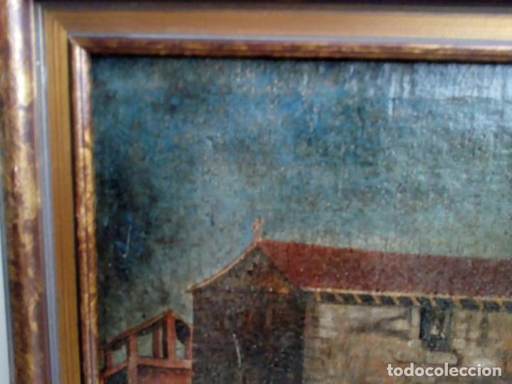 Arte: PAISAJE COSTUMBRISTA SIGLO XVIII, ÓLEO SOBRE LIENZO, ESCENA MARINA, ESCUELA ESPAÑOLA - Foto 14 - 86843164
