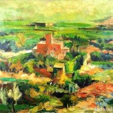 Arte: PAISAJE RURAL. ÓLEO SOBRE LIENZO. FIRMADO SERRA (MELGOSA). ESPAÑA. CIRCA 1930. Lote 86912024