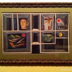 Kunst - Cuadro del pintor Josep Maria Rovira Brull Original Pieza De Colección - 101627887