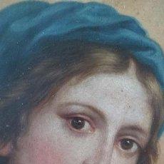 Arte: BELLISIMO ÓLEO DE VIRGEN SOBRE COBRE, ENMARCADA, 32X27 CM SIGLO XVIII-XIX ESCUELA SEVILLANA ?.. Lote 87072608