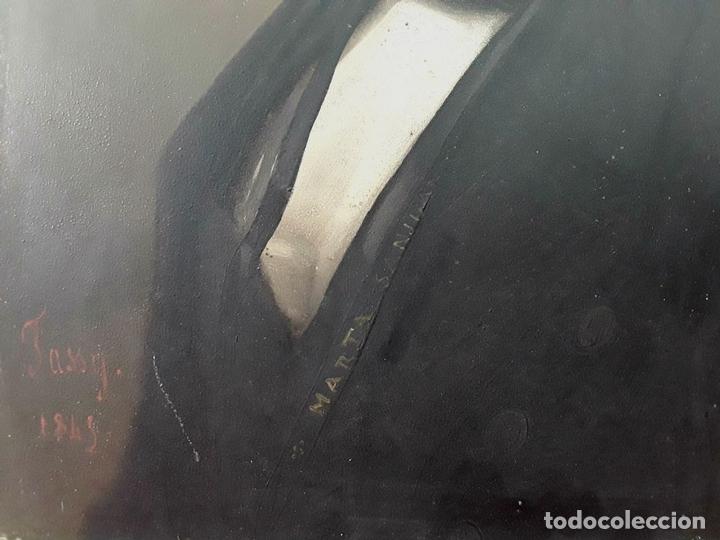 Arte: RETRATO DE CABALLERO. ÓLEO SOBRE METAL. ESTILO IMPERIO. JOSEPH TASSY. FRANCIA. 1845 - Foto 4 - 87120484