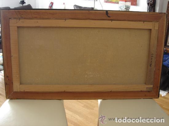 Arte: A. RUBIO.OLEO SOBRE LIENZO EN BASTIDOR. LLUVIAS. ENMARCADO. 113 CM. X 63 CM - Foto 9 - 87164700