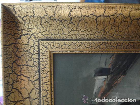 Arte: A. RUBIO.OLEO SOBRE LIENZO EN BASTIDOR. LLUVIAS. ENMARCADO. 113 CM. X 63 CM - Foto 11 - 87164700