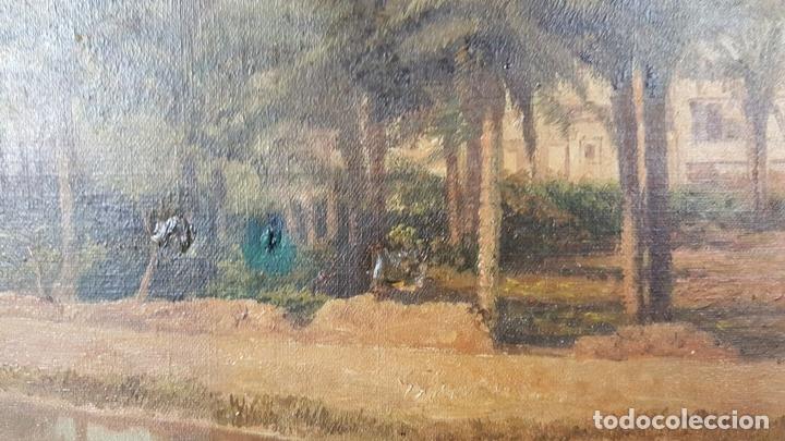 Arte: PAISAJE ORIENTALISTA. EGIPTO. ÓLEO SOBRE LIENZO. VOITLER BILLNEY. SIGLO XIX. - Foto 2 - 87237096