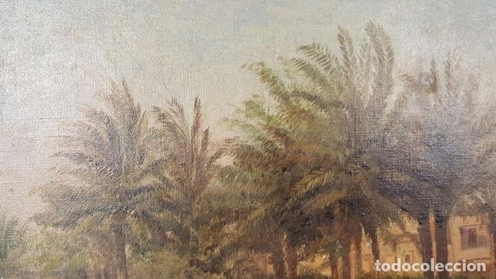 Arte: PAISAJE ORIENTALISTA. EGIPTO. ÓLEO SOBRE LIENZO. VOITLER BILLNEY. SIGLO XIX. - Foto 5 - 87237096